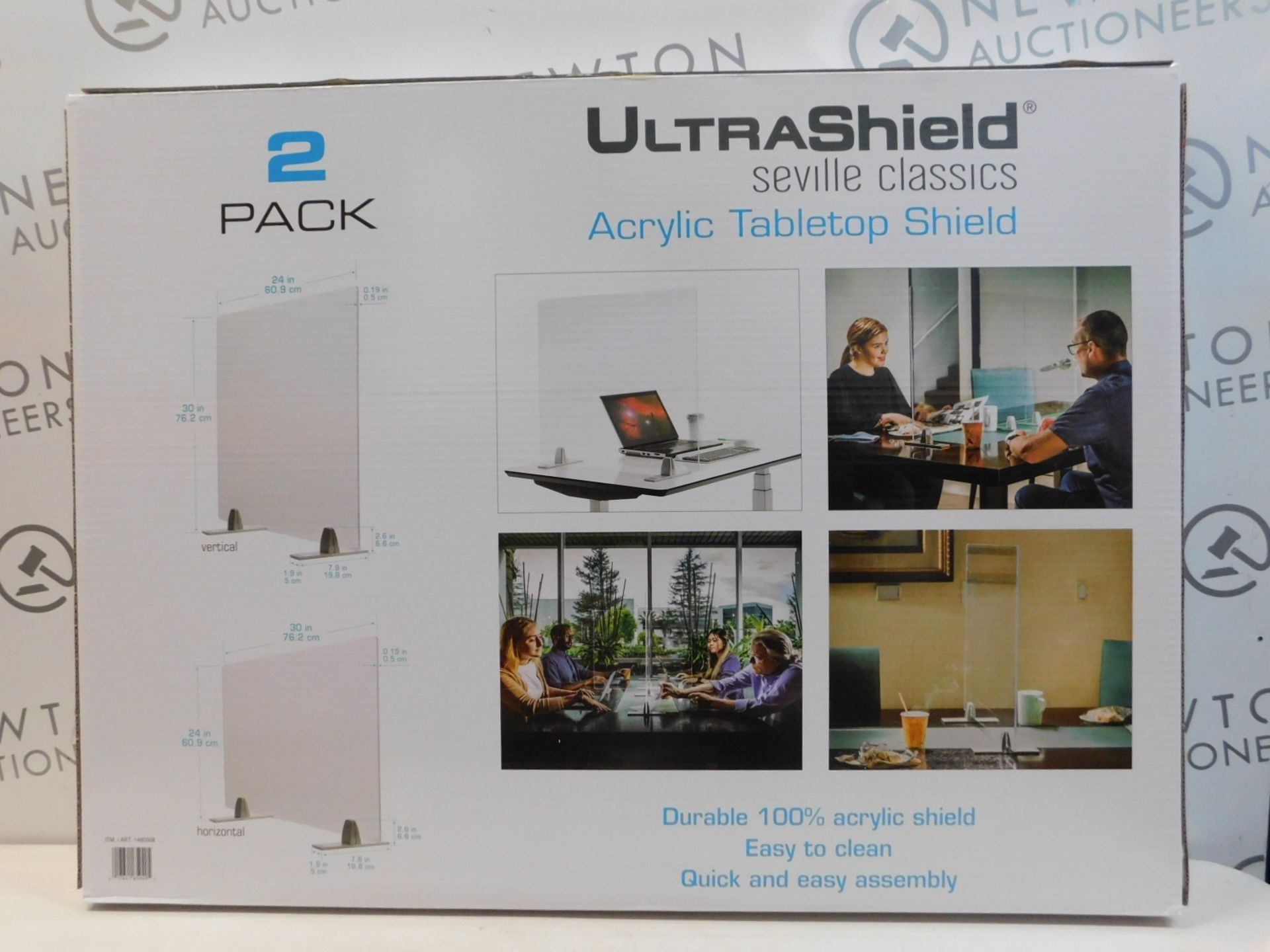 1 BRAND NEW BOXED SEVILLE CLASSICS ULTRASHIELD TABLE TOP SHIELD 2-PACK RRP £79.99