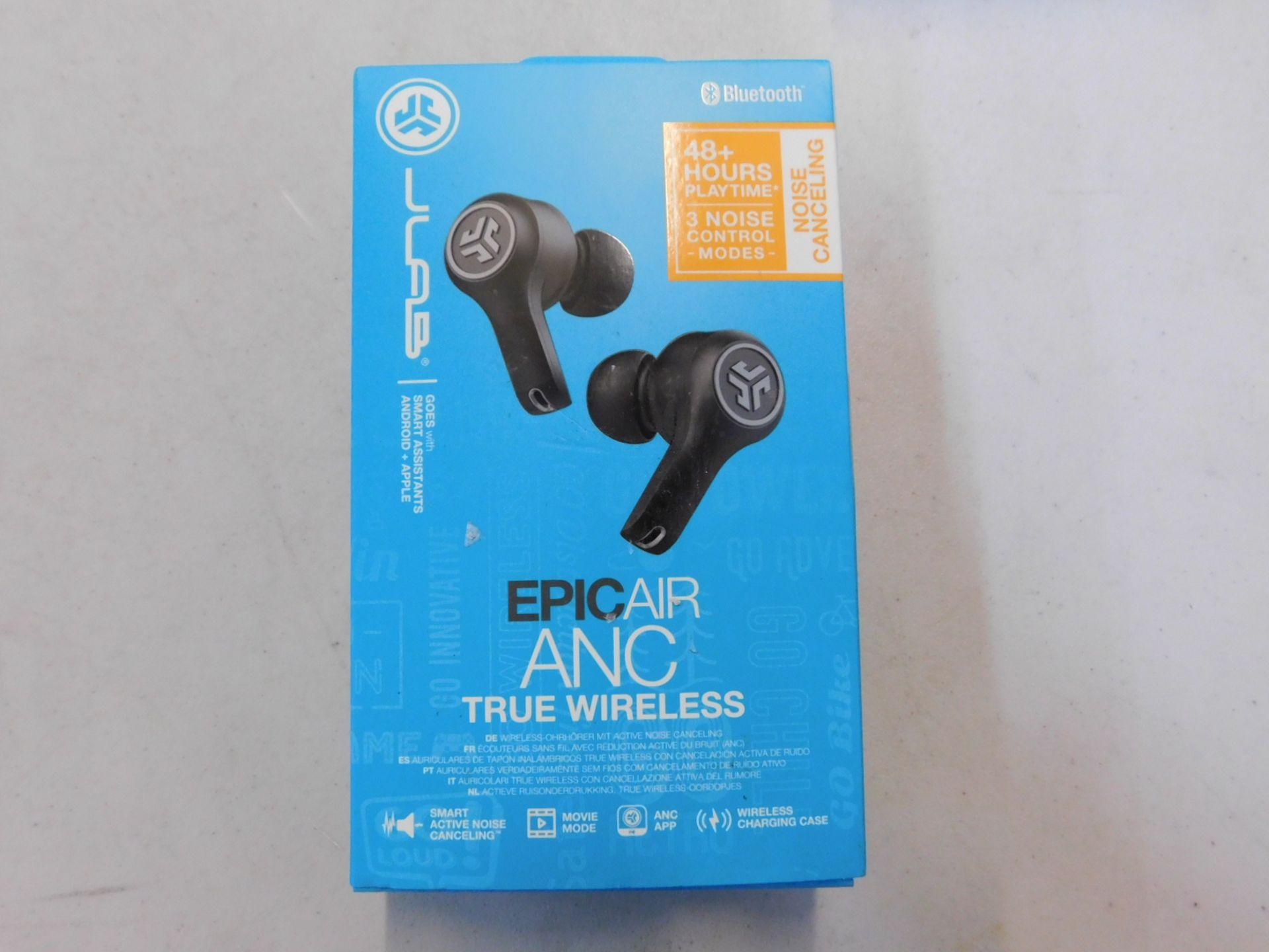1 BOXED JLAB EPIC AIR TRUE WIRLESS EARPHONES RRP £129.99