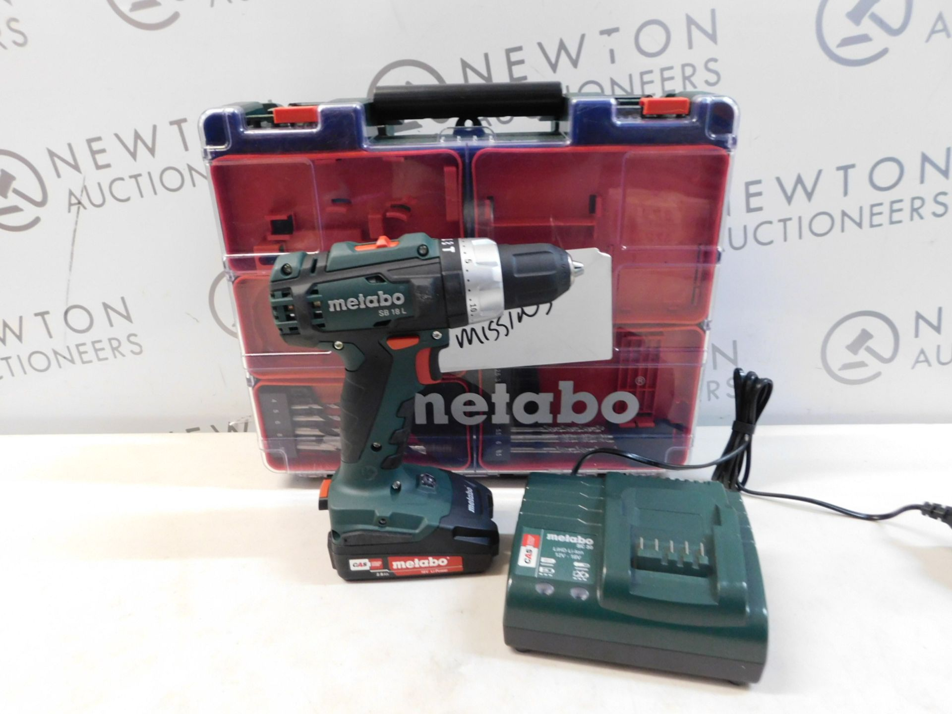 1 METABO SB 18 L 18V CORDLESS COMBI DRILL SET WITH BATTERY AND CHARGER RRP £129