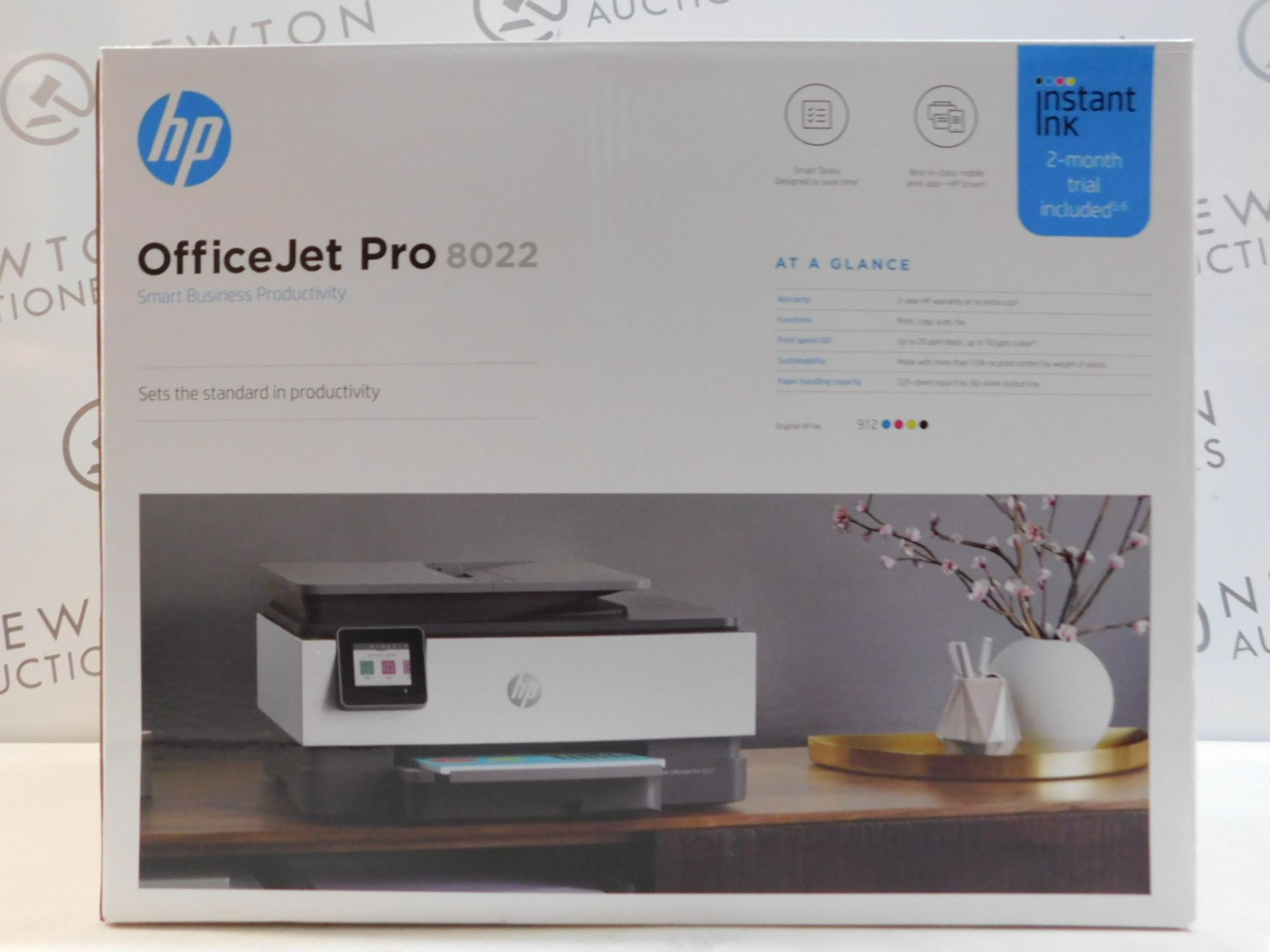1 BOXED HP OFFICEJET PRO 8022 ALL-IN-ONE INKJET PRINTER RRP £149