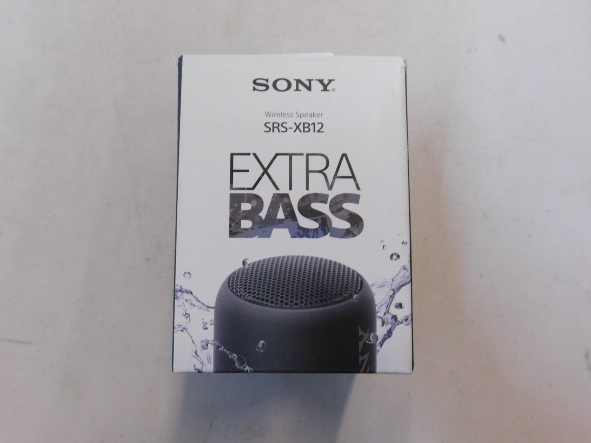1 BOXED SONY SRS-XB12 EXTRA BASS WIRELESS BLUETOOTH SPEAKER RRP £59.99