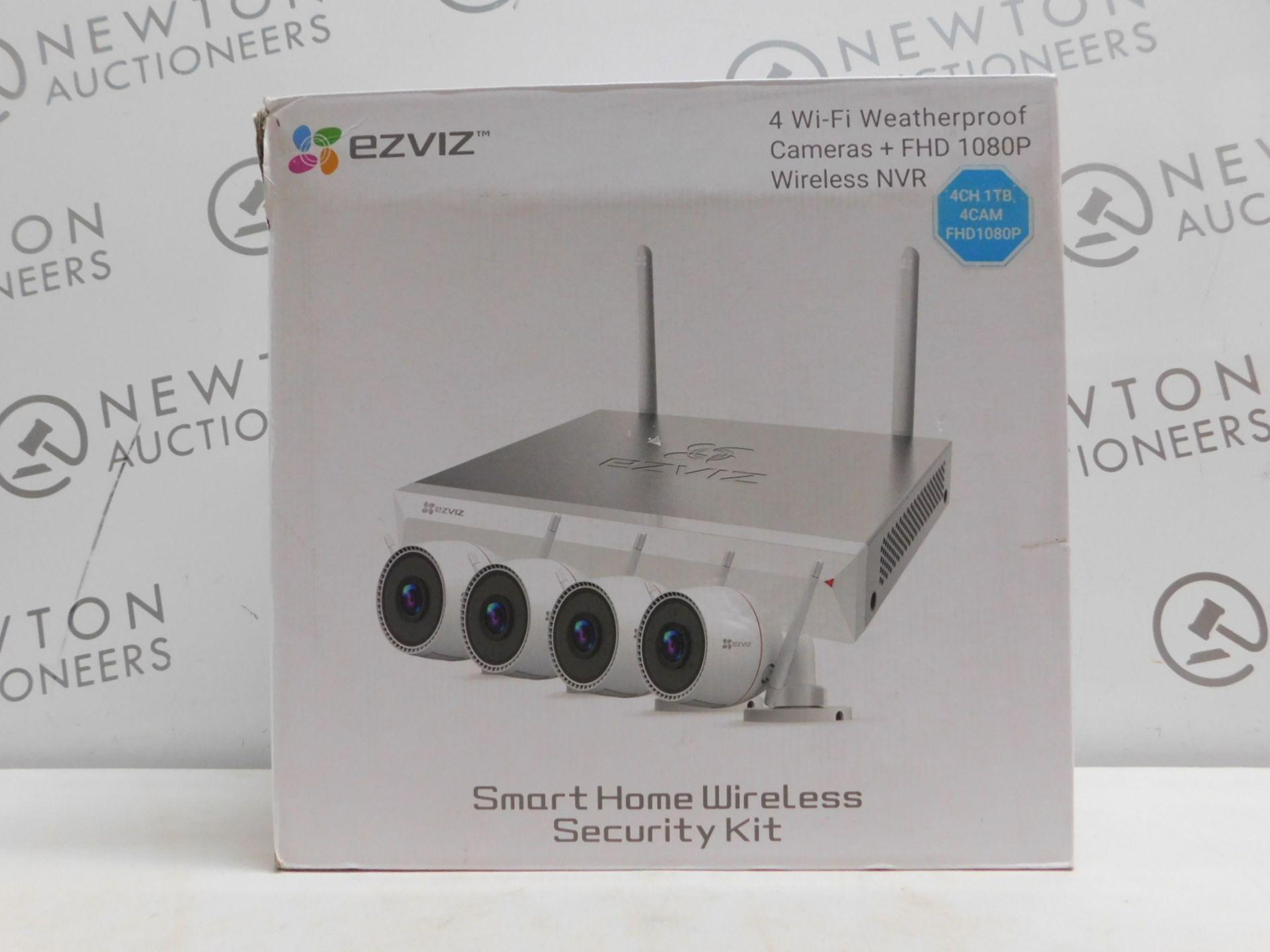 1 BOXED EZVIZ FULL HD 1080P AIR KIT, 4 X 1080P WIFI BULLET CAMERAS WITH 1TB NVR, MODEL CS-BW2424-