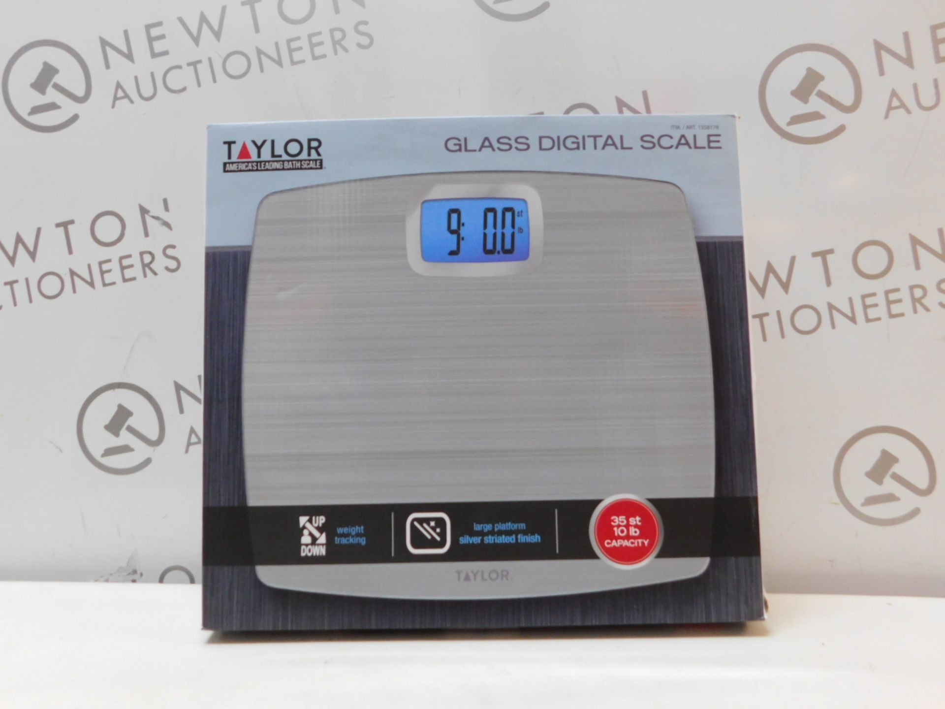 1 BOXED TAYLOR DIGITAL BATHROOM GLASS SCALE RRP £29.99
