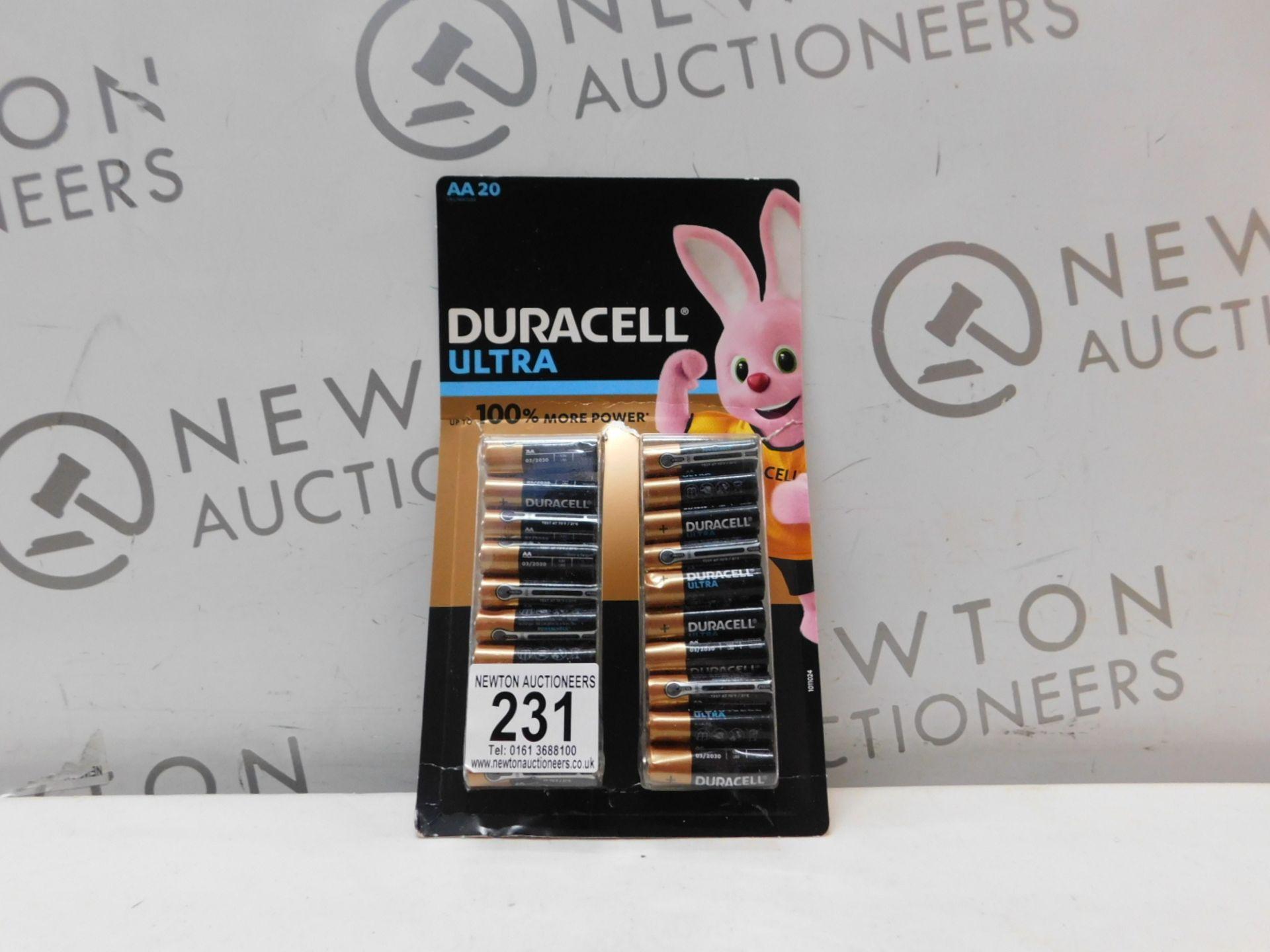 1 PACK OF DURACEL AA BATTERIES RRP £19