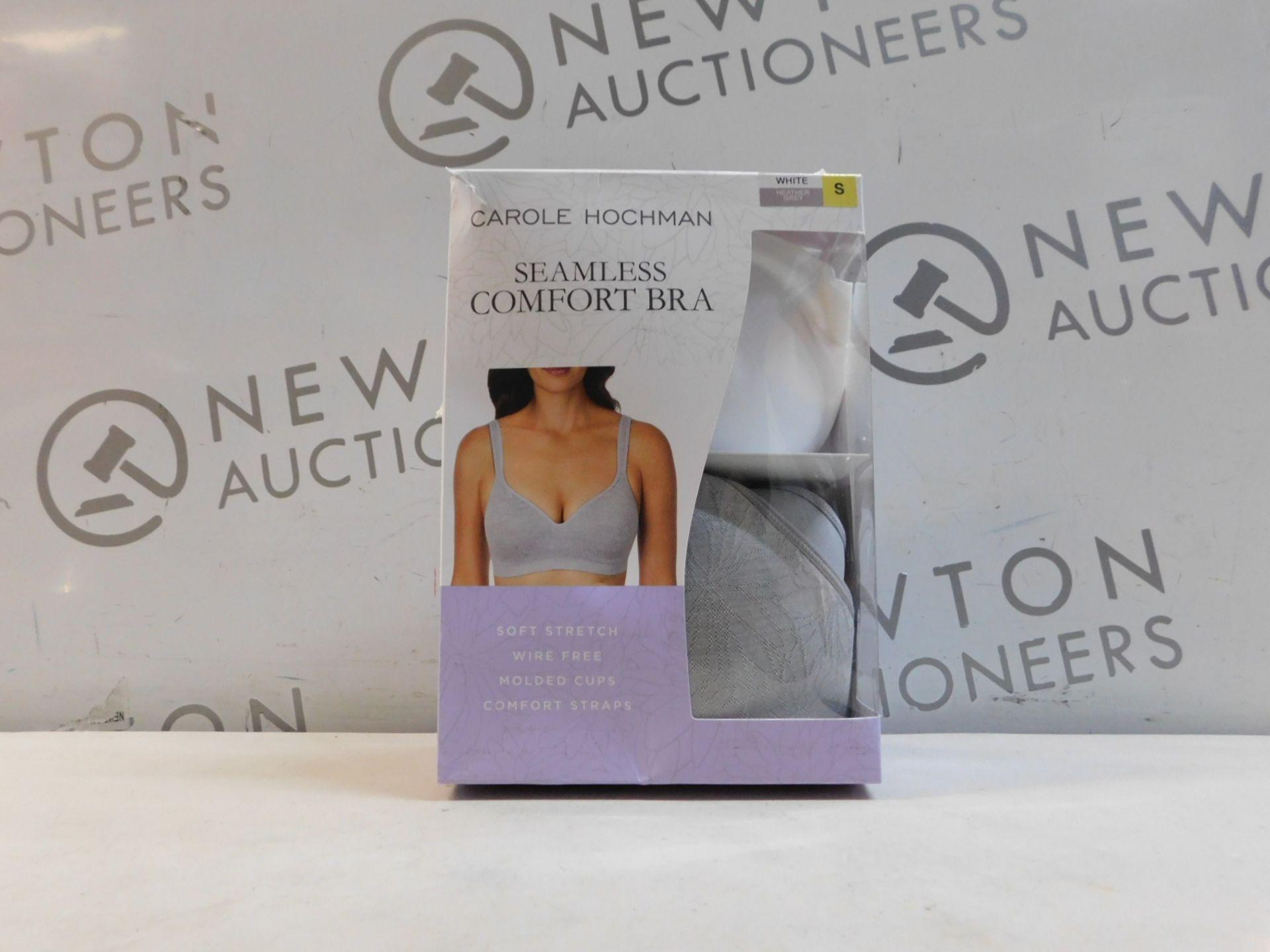 1 BOXED 2 PACK CAROLE HOCHMAN SEAMLESS COMFORT BRA SIZE S RRP £39
