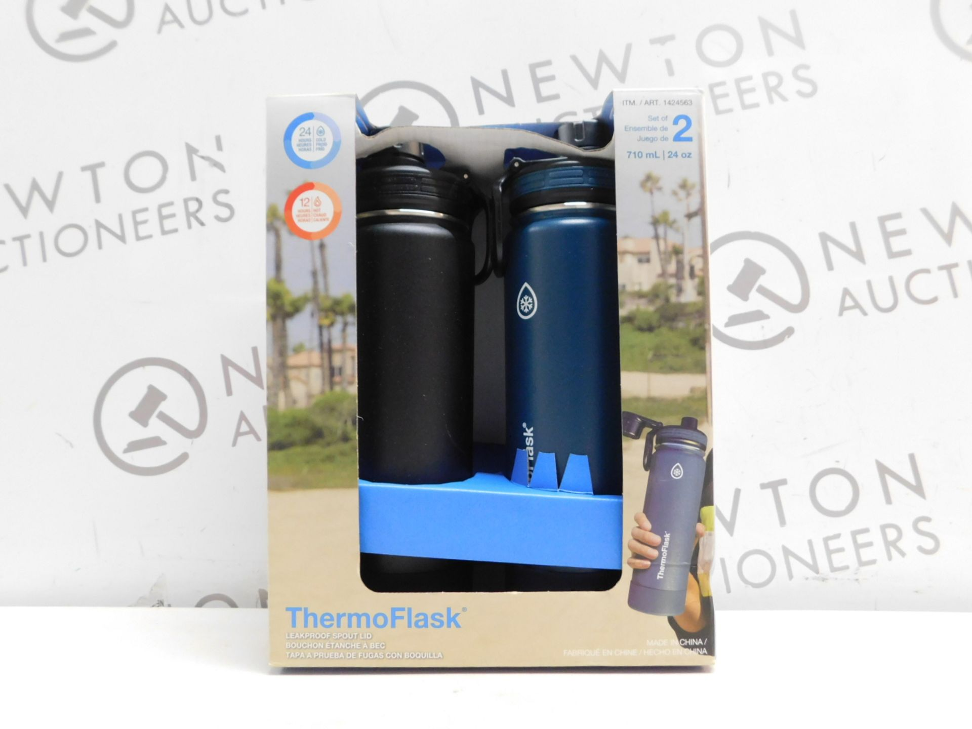 1 BOXED SET OF 2 TAKEYA THERMOFLASK INSULATED STAINLESS STEEL BOTTLES RRP £39.99
