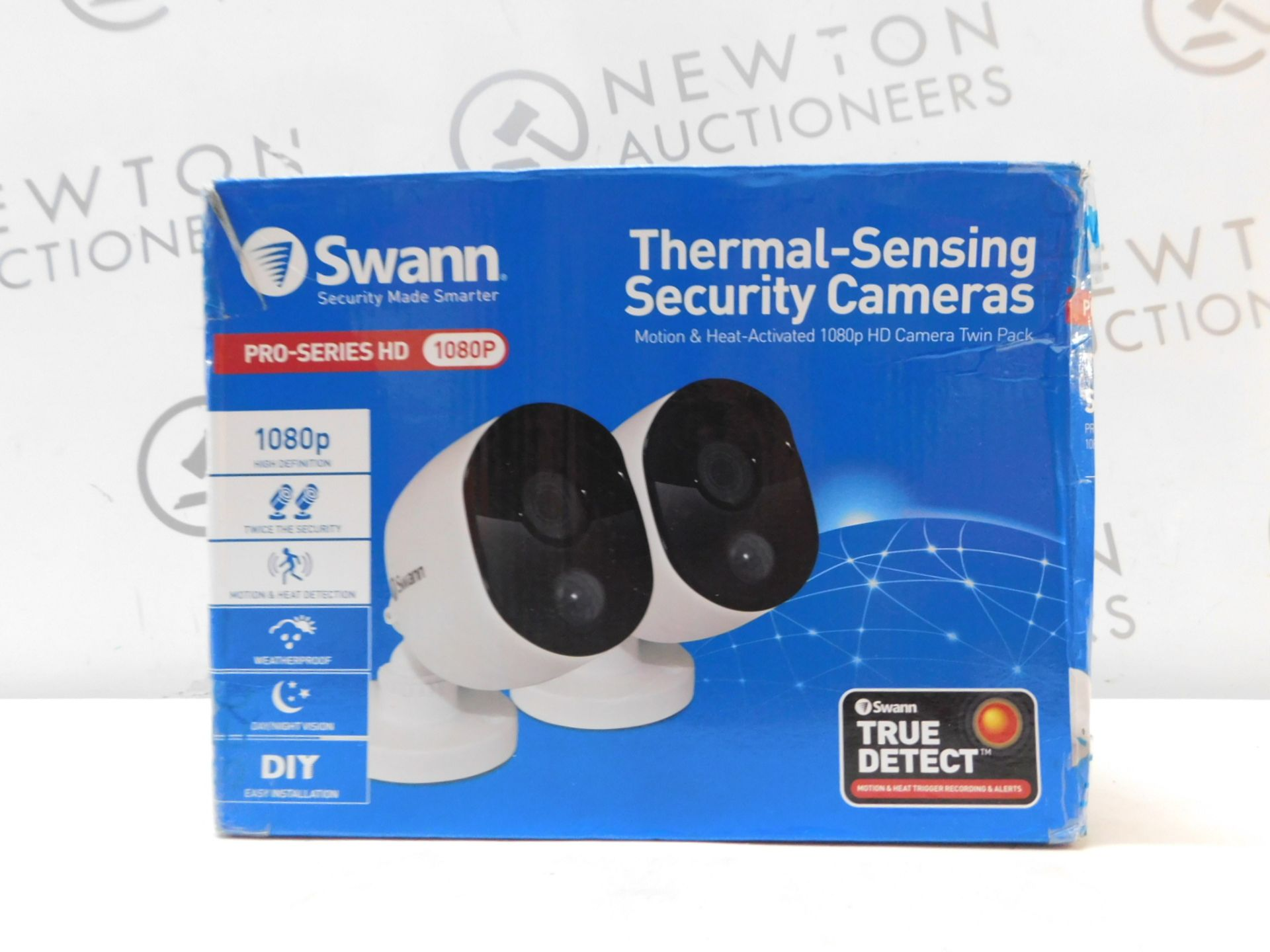 1 BOXED SWANN SWPRO-1080MSBPK2 THERMAL SENSOR FHD OUTDOOR SECURITY BULLET CAMERA 2 PACK RRP £59