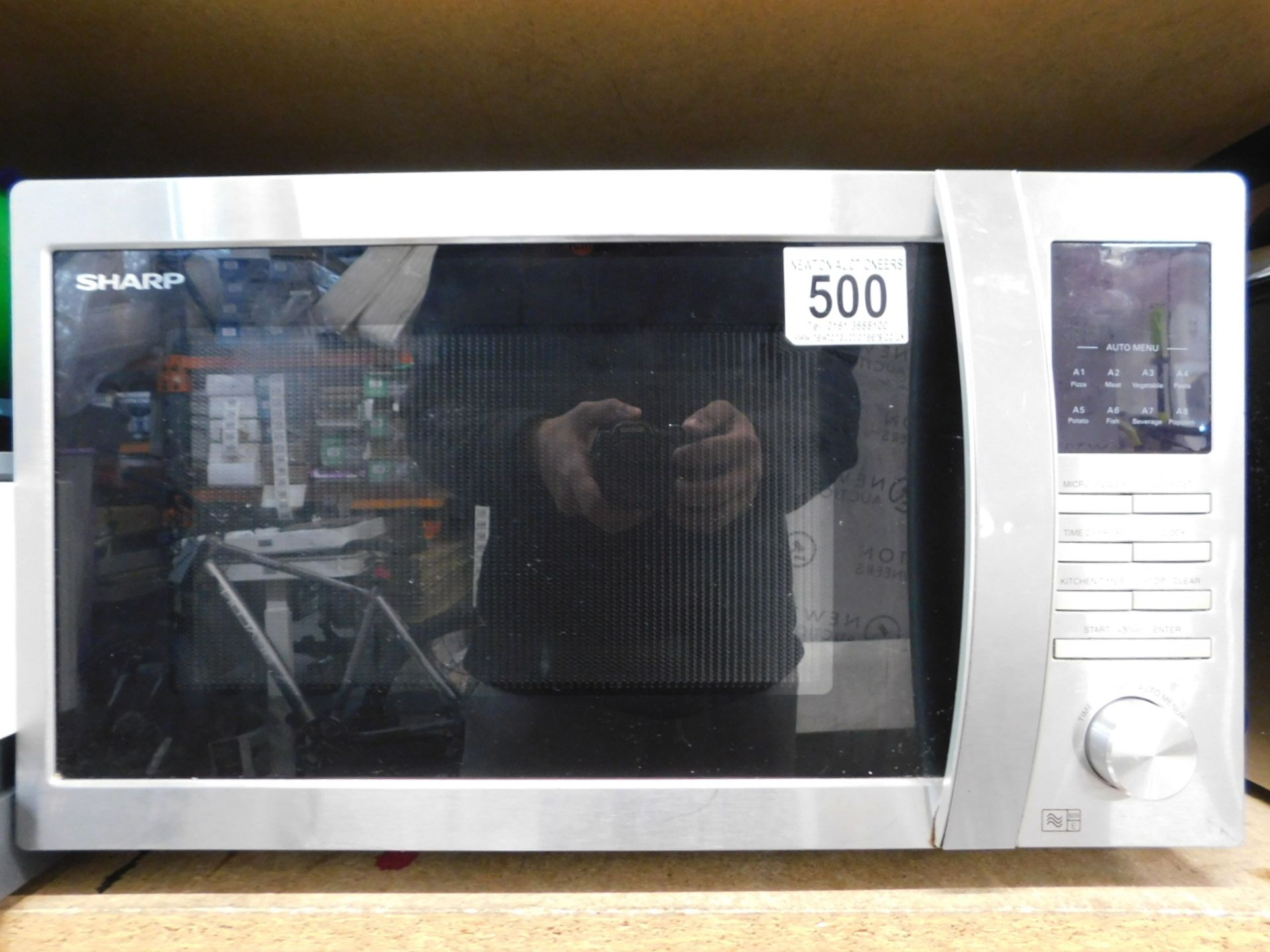 1 SHARP R-322STM 25L STAINLESS STEEL SOLO MICROWAVE OVEN RRP £149.99
