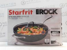 1 BOXED STARFRIT THE ROCK 32C STIR FY PAN WITH LID RRP £69.99