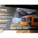 1 BOXED CORE 12 PERSON STRAIGHT WALL CABIN TENT (4.8 M X 3.3 M) RRP £499