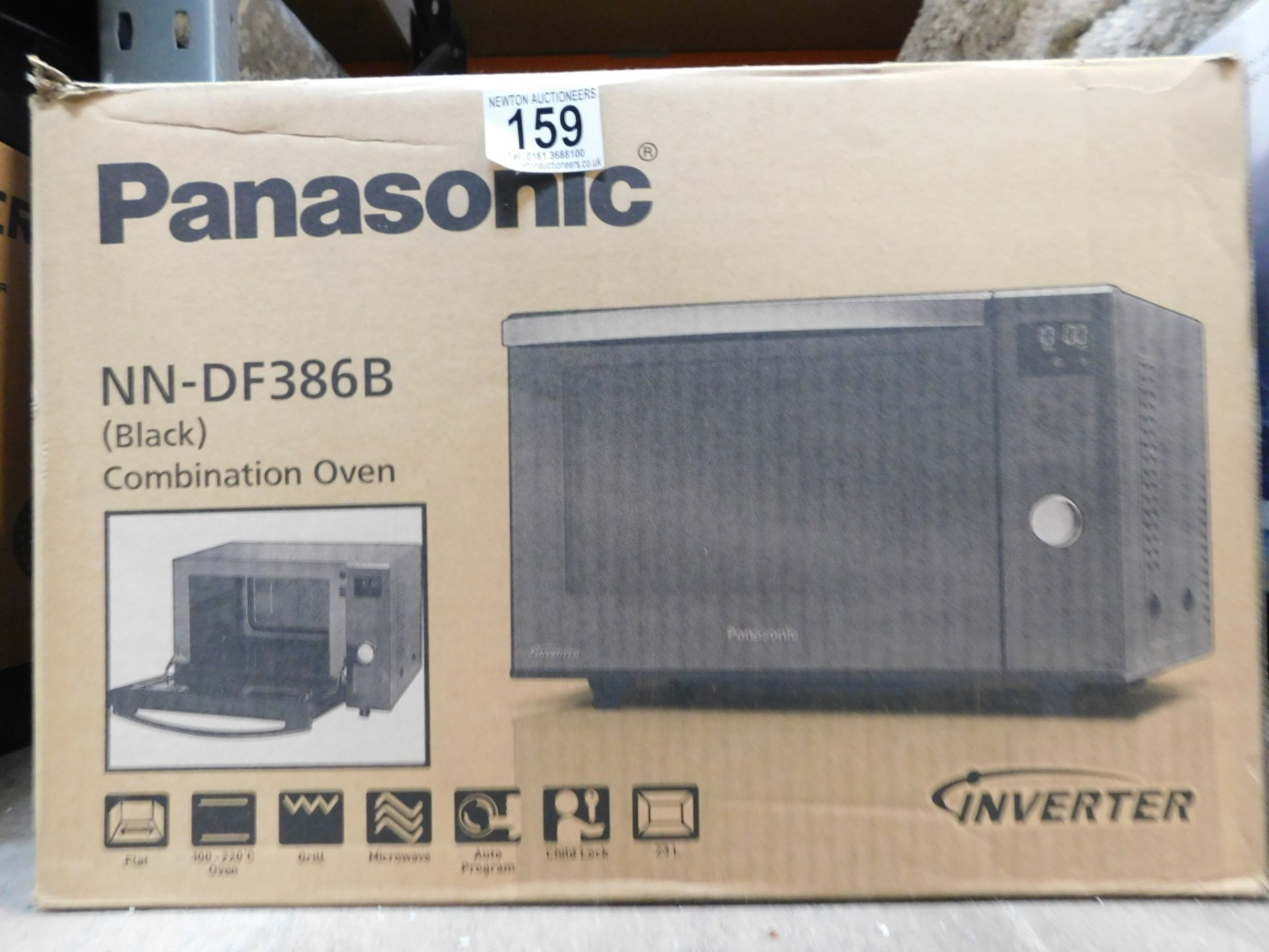 1 BOXED PANASONIC NN-DF386B 3-IN-1 1000W 23L BLACK COMBINATION MICROWAVE OVEN RRP £279.99