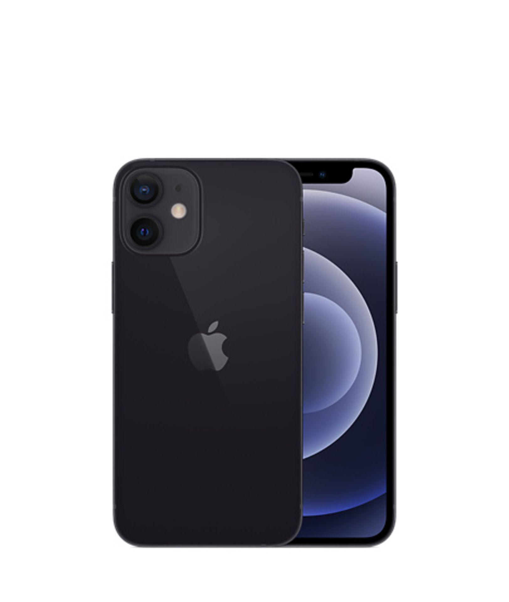 1 BOXED APPLE IPHONE 12 MINI 64GB UNLOCKED IN BLACK RRP £599 (APPLE WARRANTY TILL JUNE 2022)