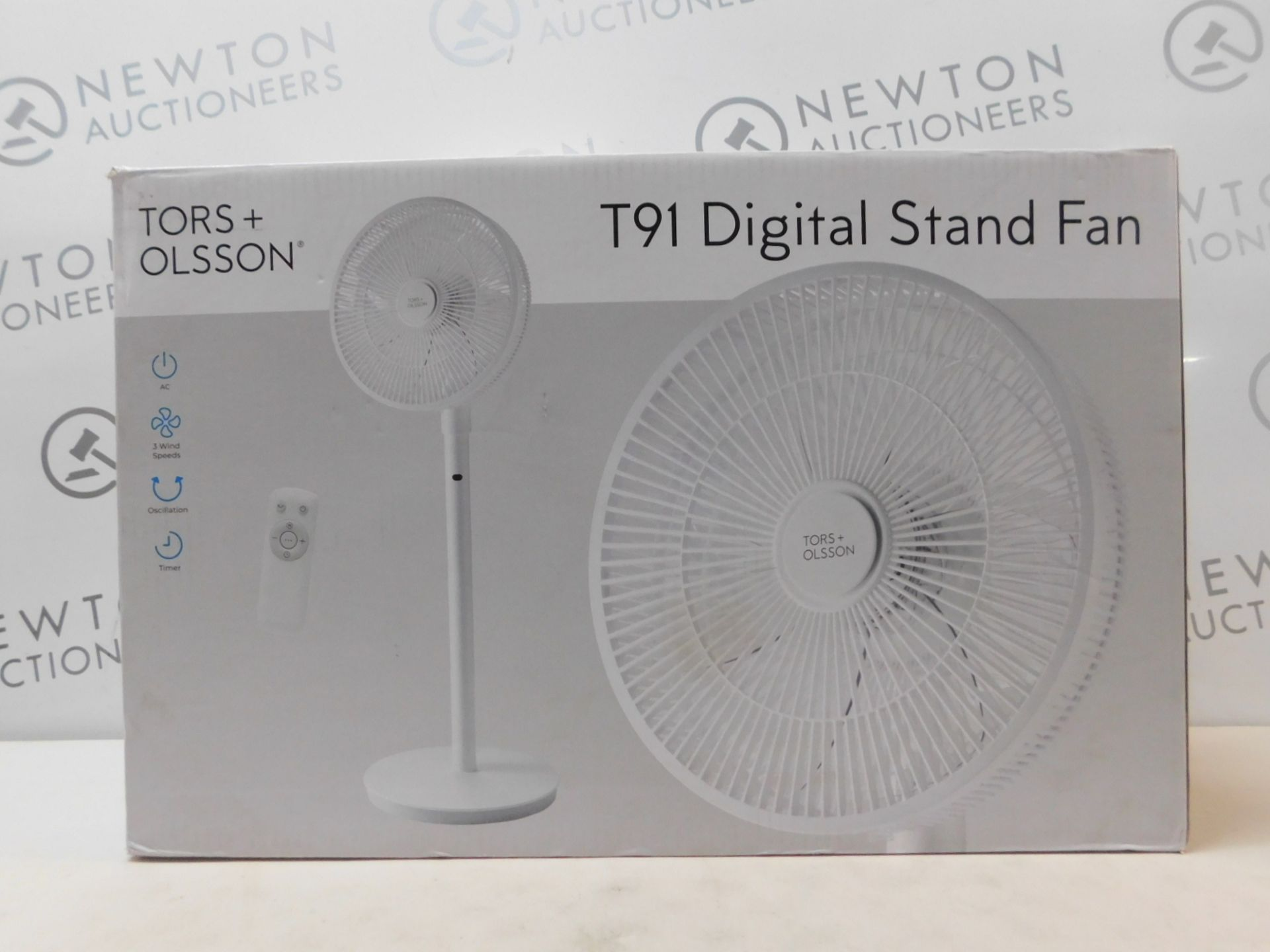 """1 BOXED TORS & OLSSON 14"""" DIGITAL PEDESTAL FAN WITH REMOTE CONTROL, T91 RRP £69"""