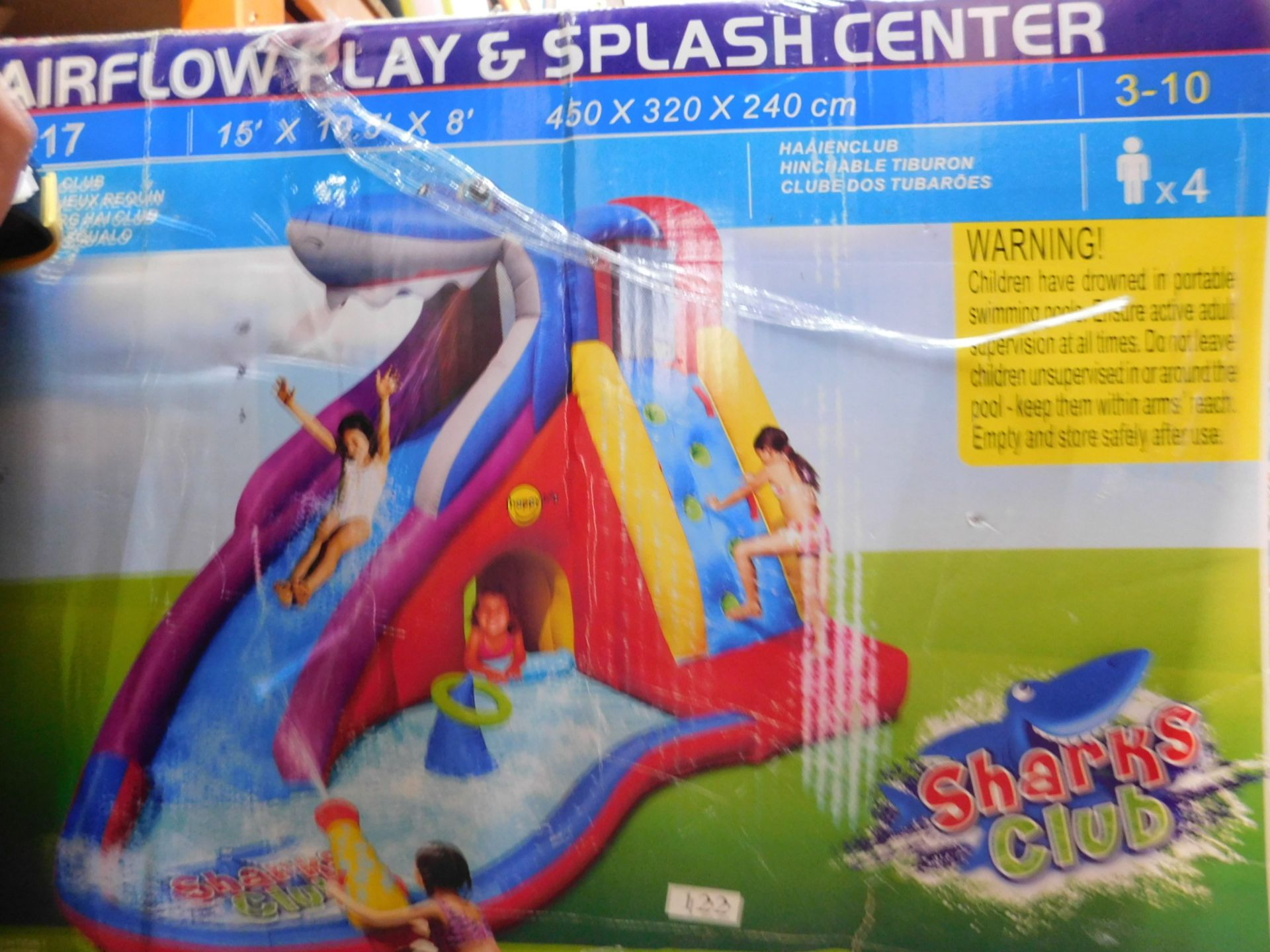 1 BOXED HAPPY HOP AIRFLOW PLAY AND SPLASH CENTRE RRP £299