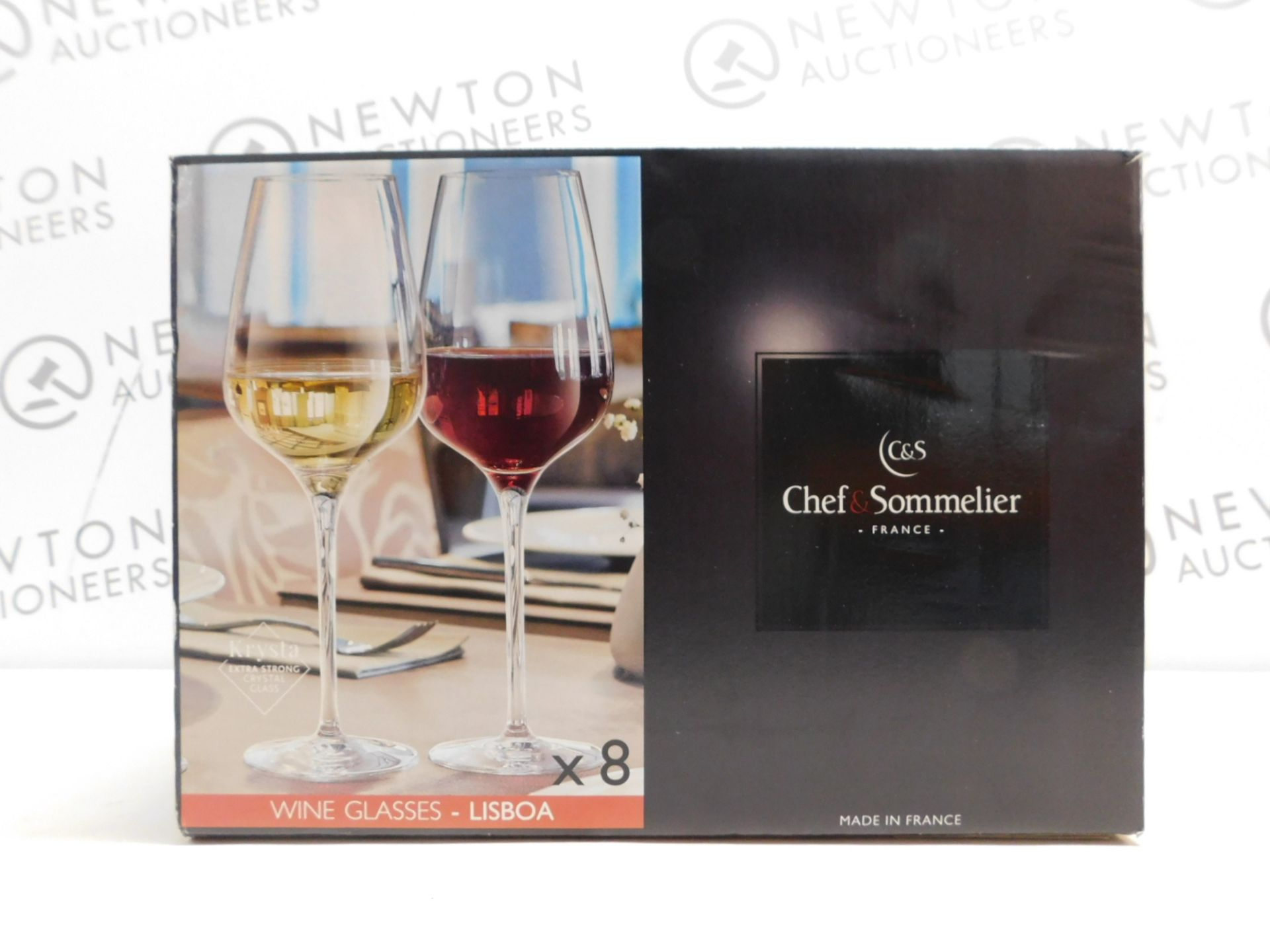 1 BOXED CHEF & SOMMELIER 6 PIECE KRYSTA EXTRA STRONG CRYSTAL WINE GLASSES RRP £39.99