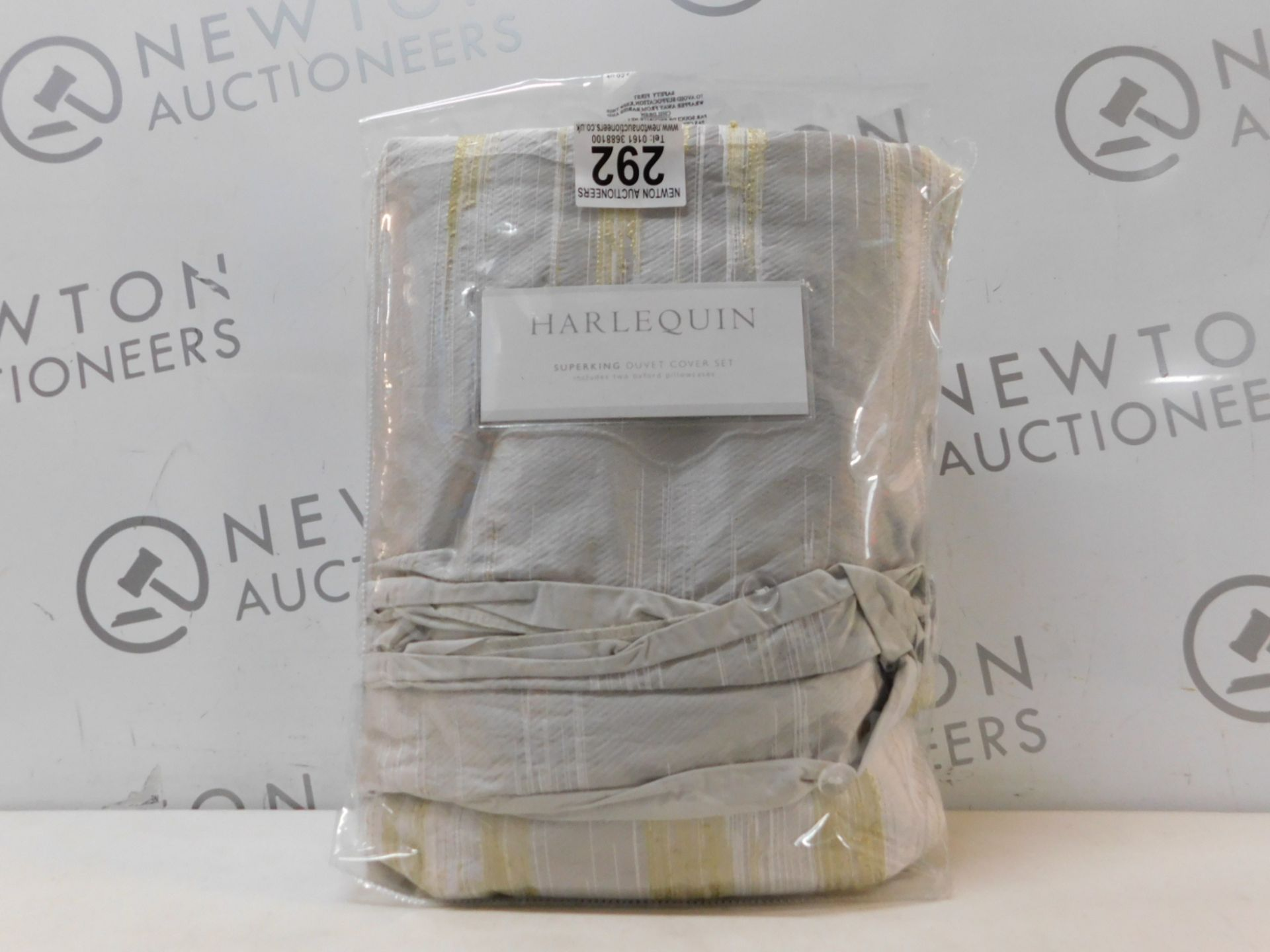 1 PACKED HARLEQUIN 300TC SUPER KING DUVET COVER SET RRP £89.99