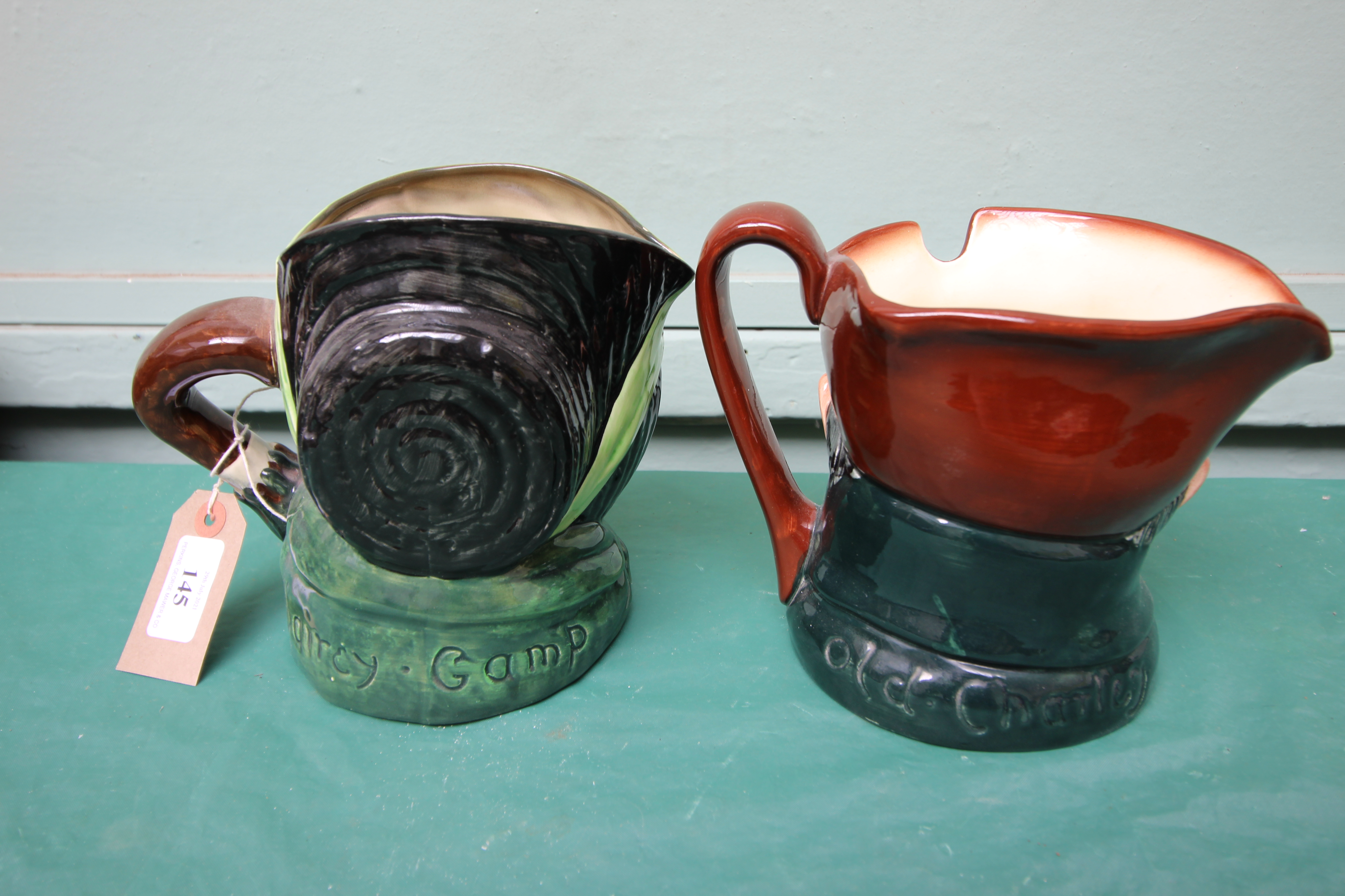 Large character jug 'Sairey Gamp' and another 'Old Charlie' - Image 2 of 2