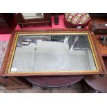 Rectangular inlaid framed Edwardian wall mirror