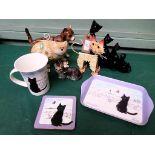 Series of cat accessories, coffee mug etc.