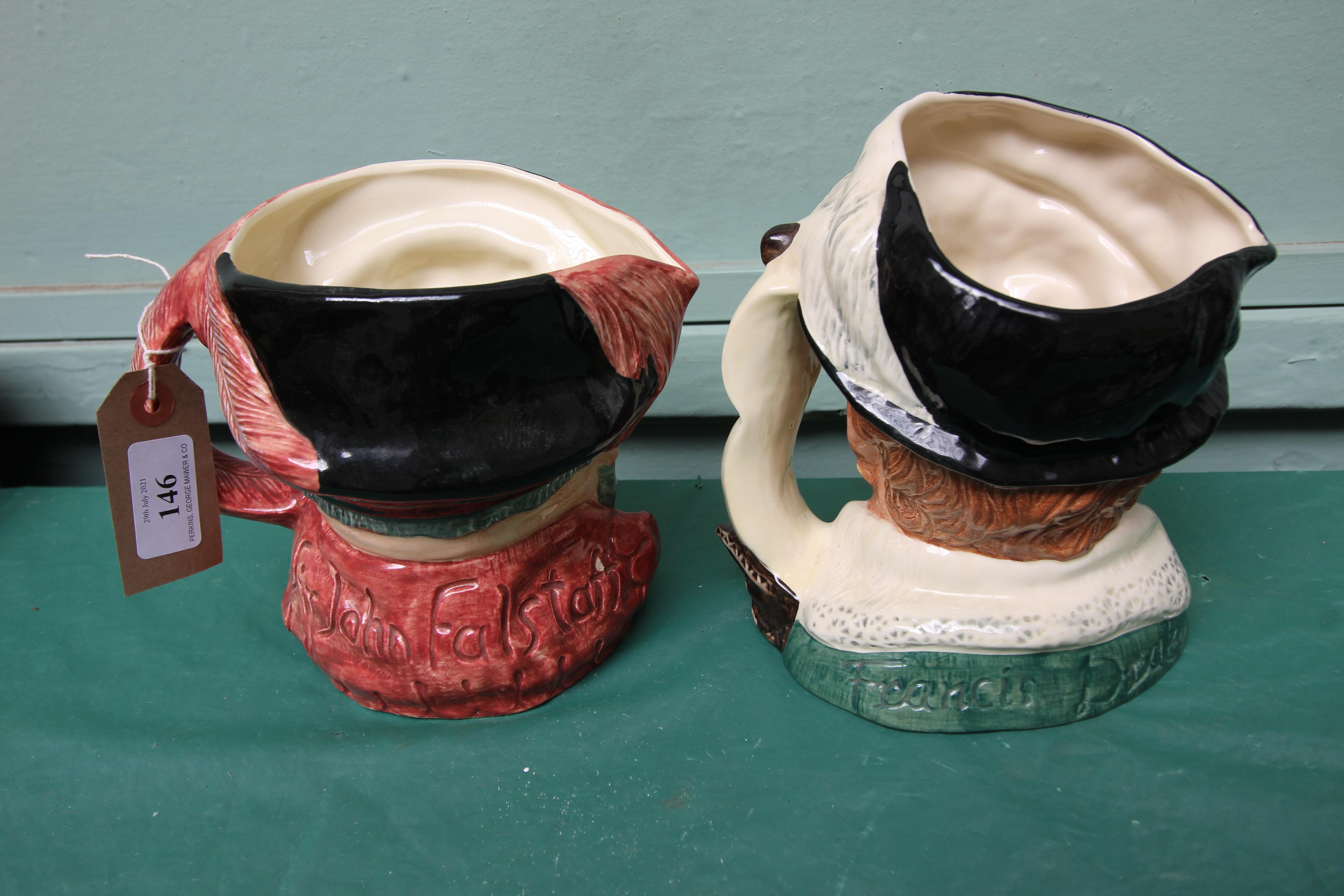 2 large Royal Doulton character jugs, - Image 2 of 2