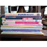Sel. of books and journals on papercraft, design creation etc.