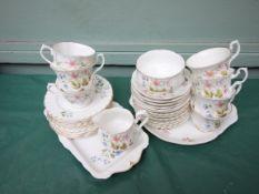 Richmond bone china 'Wild Anemone' part tea service (approx.