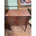 Small dark oak cabinet,