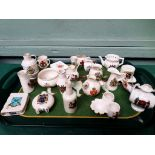 Selection of 20 Crestware items from various factories