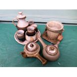 Collection of everyday stoneware crockery