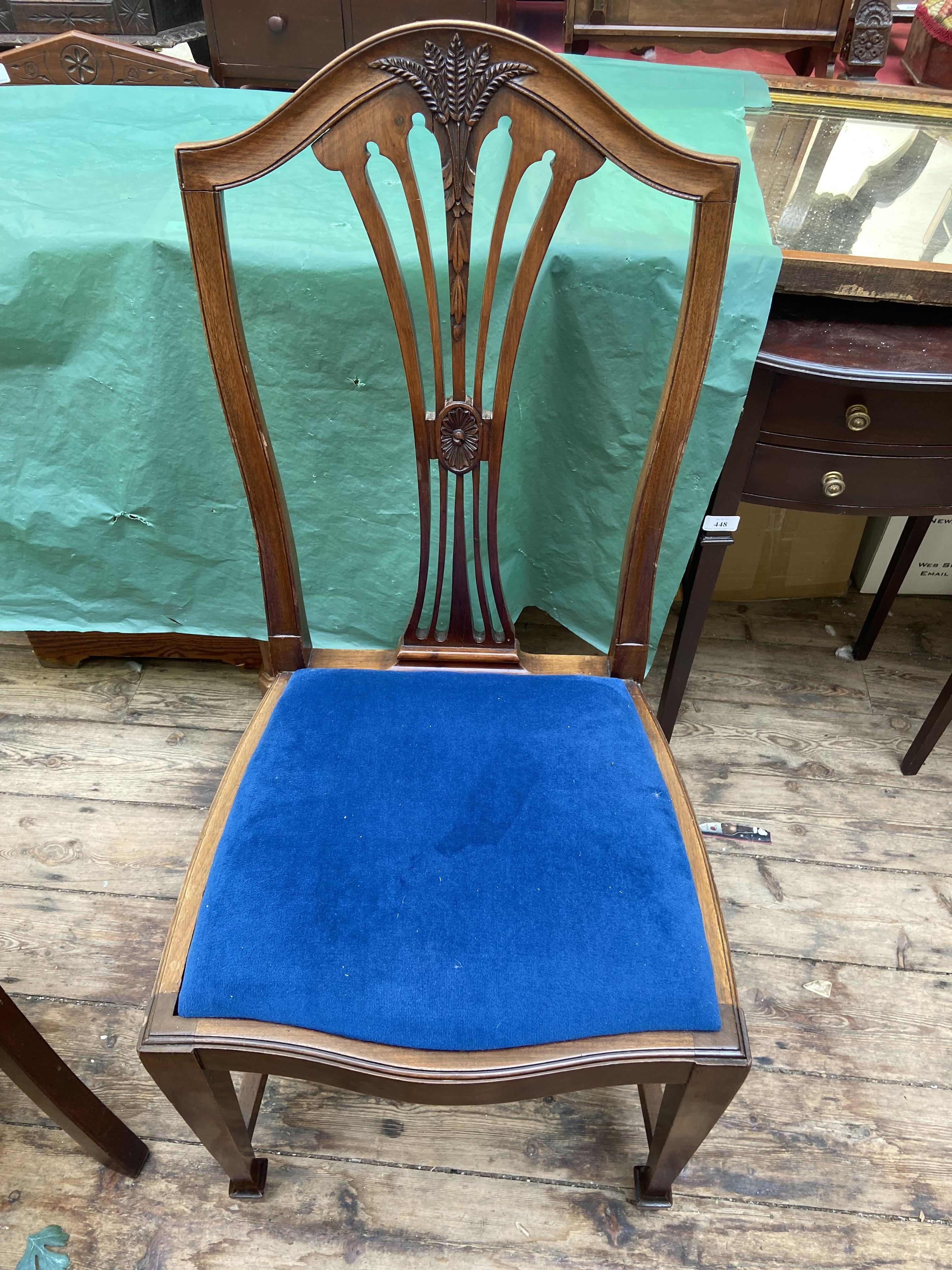 4, matching reproduction dining chairs, each with 4 splayed sticks to back beside a sheaf of corn, - Image 2 of 2