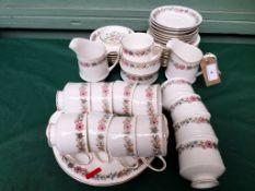 Paragon 'Belinda' bone china 12 piece tea service (45 pieces) together with 2 Minton 'Haddon Hall'