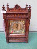 German bracket clock in carved oak case believed ex.