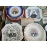 3 Gladstone plates and another in memory to Stafford Henry Northcote Iddesleigh
