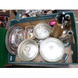 Box of plateware incl.