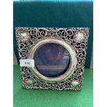 Victorian silver photograph frame (Birmingham 1900)