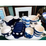 Selection of blue and white T.G Green & Co Cornish ware etc.