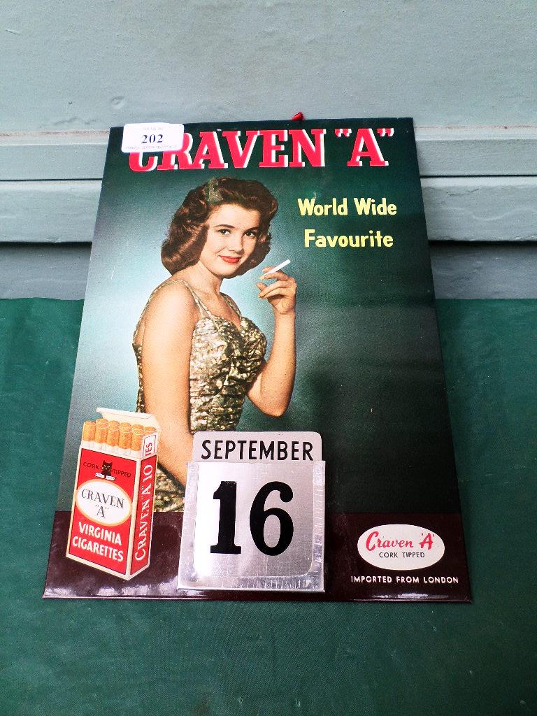Craven A Virginia cigarettes advertising calendar - Image 2 of 2