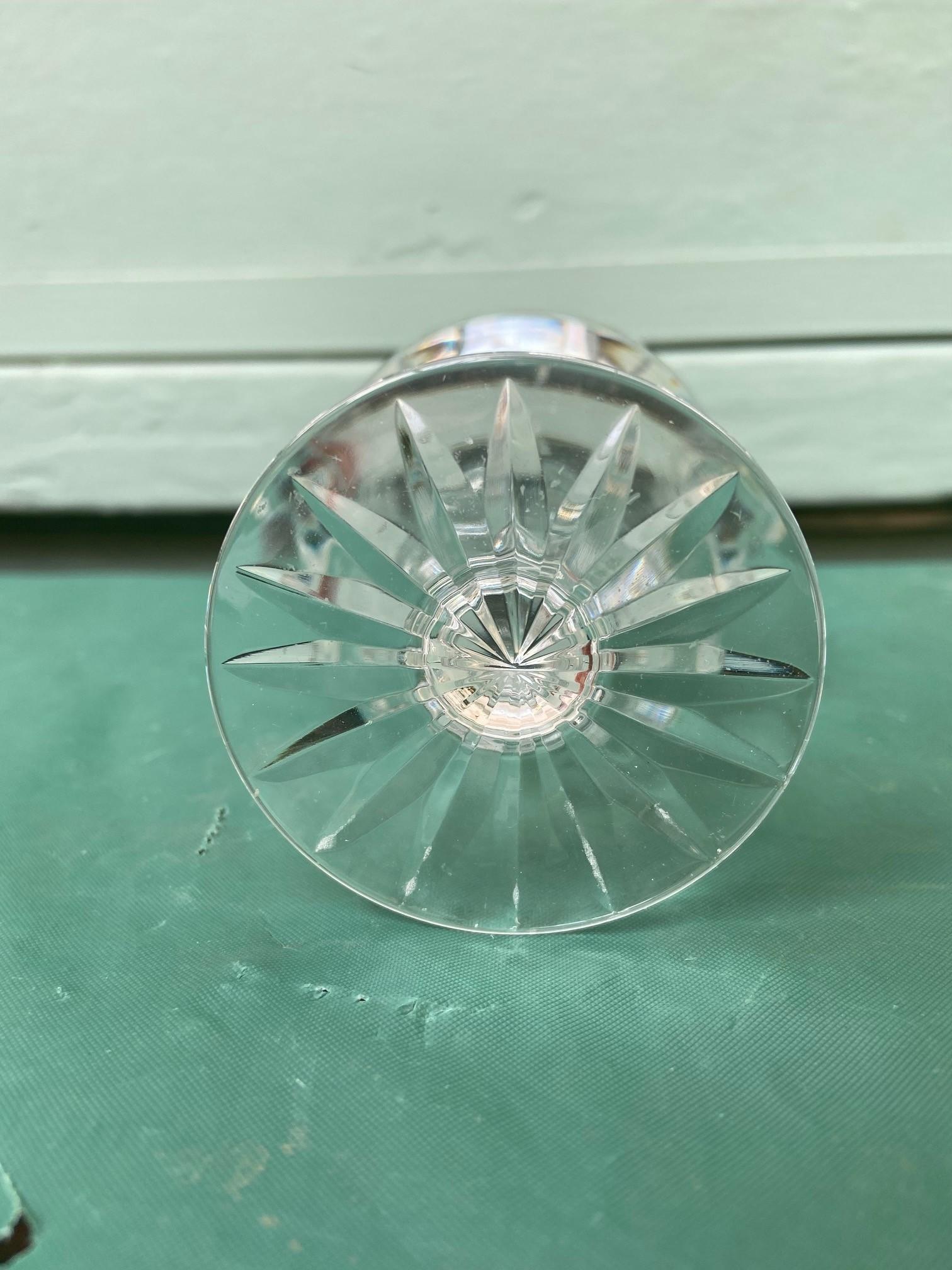 6 diamond cut Stuart crystal wine glasses - Image 9 of 11