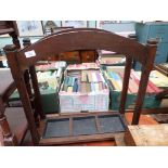 3 compartment oak hall umbrella/stick stand with tin tray