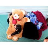 Teddy bear hot water bottle cover, ladies hats etc.