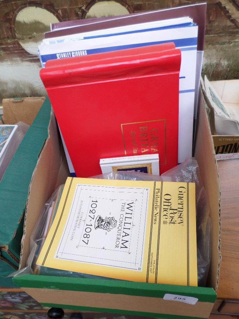 Selection of Philatelist's accessories, commemorative supplementary files, spare albums etc.
