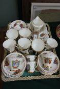 Gladstone bone china tea service celebrating the Coronation of Queen Elizabeth II (approx 58