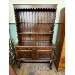 Early 20th century dark oak sideboard dresser,