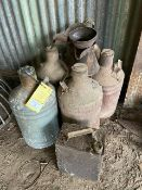 VARIOUS FUEL/OIL CANS