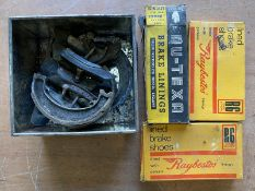 A quantity of brake shoes, some new old stock.