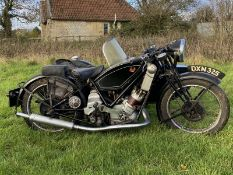 1937 Scott Flying Squirrel 600cc Combination