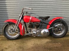 1935 Harley Davidson Model V Project