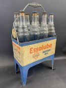 A very original Essolube Motor Oil eight division garage forecourt crate in good condition, still