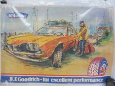 """A B.F. Goodrich pictorial advertising poster, circa late 1960s/early 1970s, 53 x 35 1/2""""."""