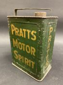 A Pratts Motor Spirit pedal car can.